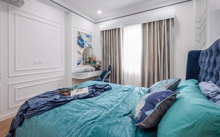 Căn hộ 60m² đẹp cá tính với điểm nhấn màu xanh sang trọng có chi phí hoàn thiện 300 triệu đồng ở TP. HCM