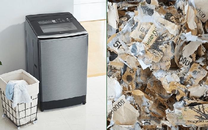 Người đàn ông làm nát tươm gần 450 triệu đồng vì quay tiền trong máy giặt để tiệt trùng
