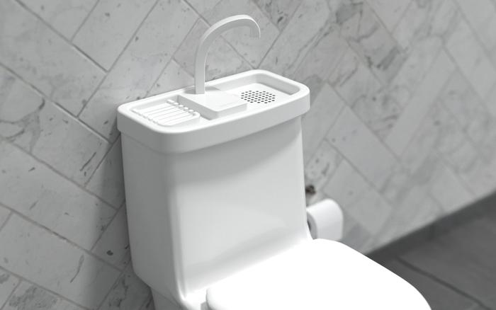 Bồn cầu 2 trong 1: Chỉ 2 triệu nhưng tiết kiệm diện tích và cả nước sạch cho các phòng tắm nhỏ xinh