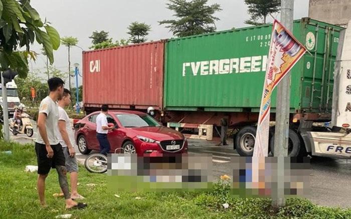 Hà Nội: Truy tìm tài xế lái xe container cán chết cô gái trẻ rồi bỏ chạy
