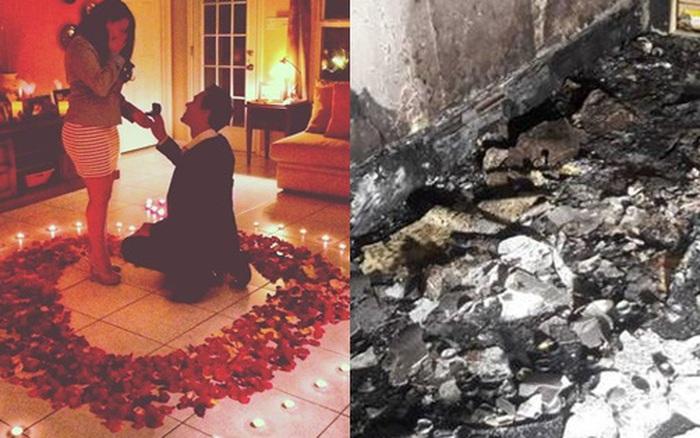 Chàng trai thắp nến rồi phóng xe chở bạn gái đến để cầu hôn, tưởng lãng mạn nào ngờ cháy cả ngôi nhà nhưng vẫn được dân mạng chúc mừng