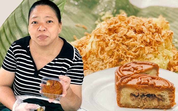 Cô bán xôi ăn thử bánh Trung thu nhân xôi xéo: Ngập ngừng ăn mãi không hết và nhận xét vẫn