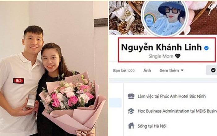 Khánh Linh - bà xã trung vệ Bùi Tiến Dũng bất ngờ đăng status buồn trong đêm, để trạng thái