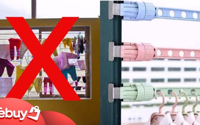 Đừng phơi quần áo trên cửa sổ theo kiểu