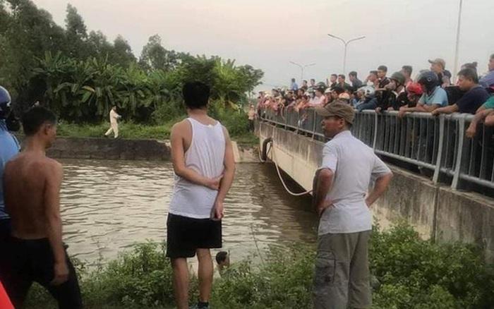 Vĩnh Phúc: Ông chạy xe máy chở cháu đi học về mất lái lao xuống sông, 3 ông cháu tử vong thương tâm