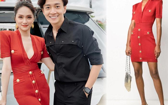 Hương Giang diện váy 37 triệu đi