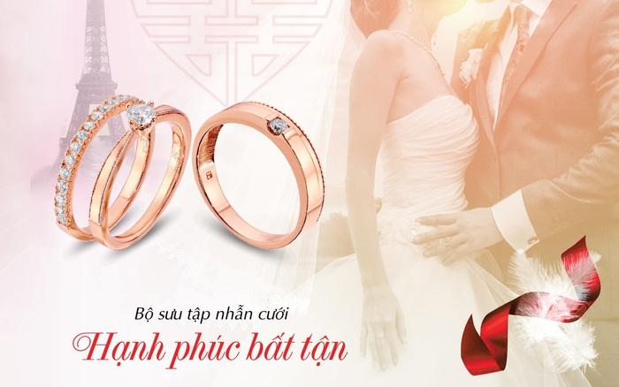 """""""Hạnh phúc bất tận"""" cùng trang sức cưới Bảo Tín Minh Châu"""