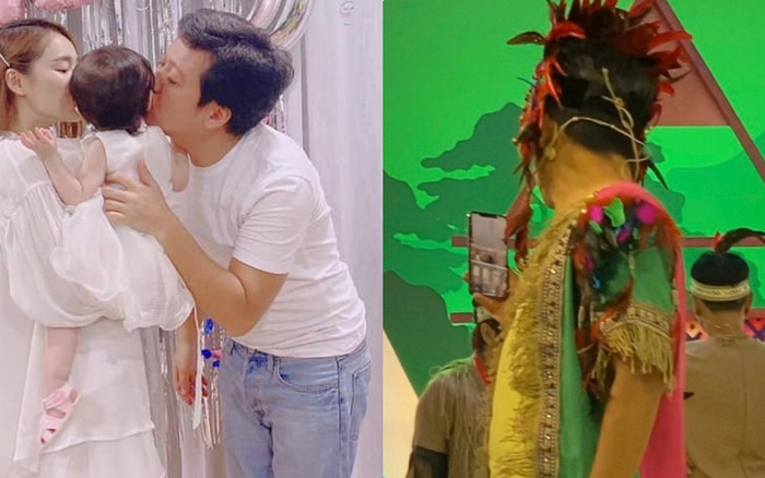 Lộ ảnh Trường Giang đang quay hình bỗng cấp tốc gọi điện cho Nhã Phương để ngắm con gái