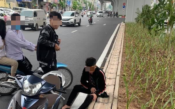 Hà Nội: Triệu tập nam thanh niên 17 tuổi liên quan vụ đuổi đánh, đập phá xe người đi đường sau va chạm với thai phụ