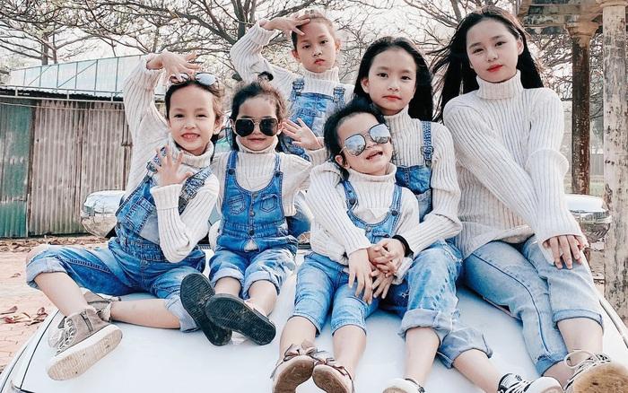 Mẹ Nghệ An đẻ 6 cô con gái bé nào cũng xinh như hoa, mang thai lần 6 suýt mất mạng