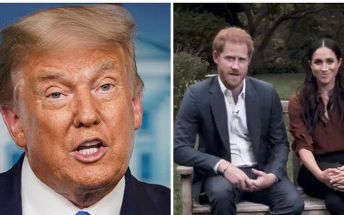 Tổng thống Donald Trump mỉa mai vợ chồng Meghan Markle sau khi bị cặp đôi động chạm công khai: