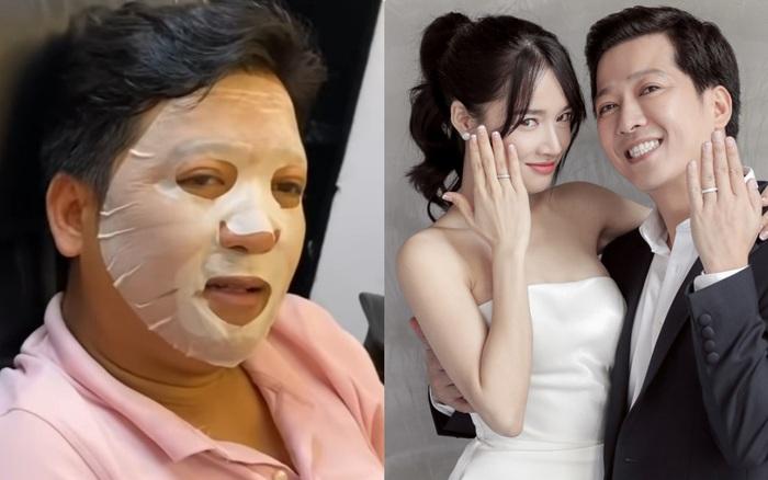 Trường Giang xấu hổ khi bị bắt gặp cảnh đắp mặt nạ dưỡng da, lý do là vì Nhã Phương ép buộc