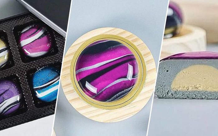 Độc lạ hộp bánh Trung thu tráng gương, mô phỏng dải ngân hà: 4 chiếc giá gần 2 triệu đồng