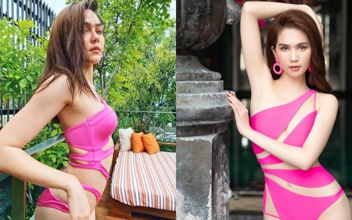 """Gần 40 tuổi, bà mẹ 2 con đẹp nhất Thái Lan khoe đường cong đốt mắt với bikini táo bạo, Ngọc Trinh sao """"có cửa"""" trên cơ"""