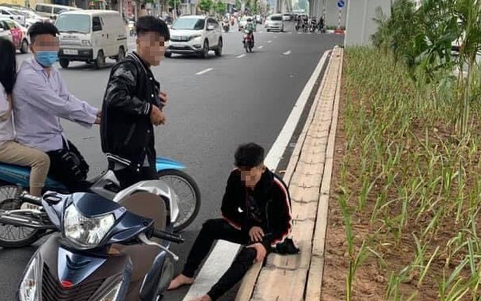 Tạm giữ hình sự nam thanh niên đập phá xe người can ngăn sau va chạm giao thông với thai phụ ở Hà Nội
