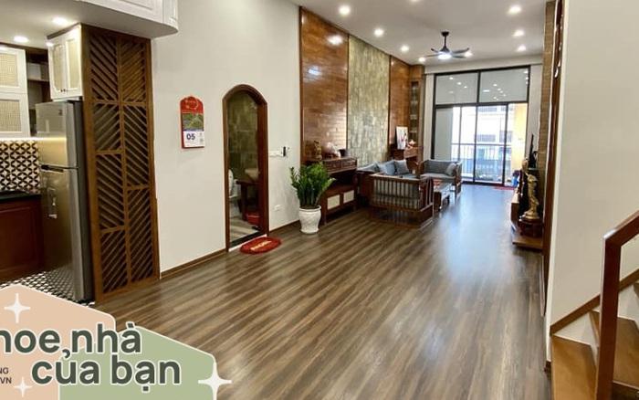 Căn hộ 85m² màu gỗ ấm cúng kết hợp khéo léo phong cách hiện đại và hoài cổ của con trai mua cho bố mẹ ở Hà Nội
