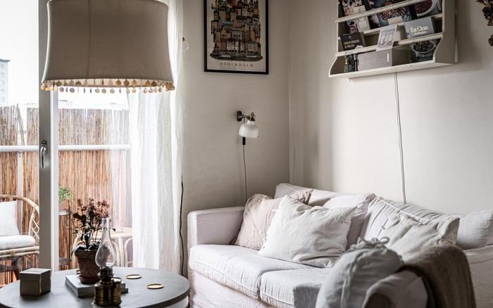 Căn hộ 50m² màu trắng với thiết kế tinh tế như không gian nghỉ dưỡng