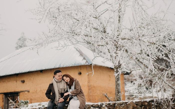 Mê mẩn với bộ ảnh cưới trong tuyết của cặp đôi may mắn, dù váy cưới cô dâu bị đóng băng do quá lạnh
