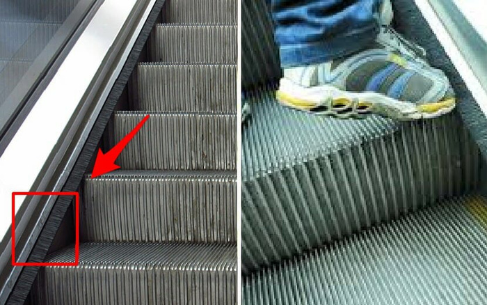 Đi trung tâm thương mại biết bao năm nay nhưng giờ tôi mới biết bàn chải ở thang cuốn không phải để đánh giày!