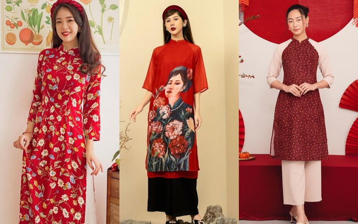 10 mẫu áo dài đỏ từ 450k nổi bật và tươi tắn hết sức để diện dịp đón năm mới