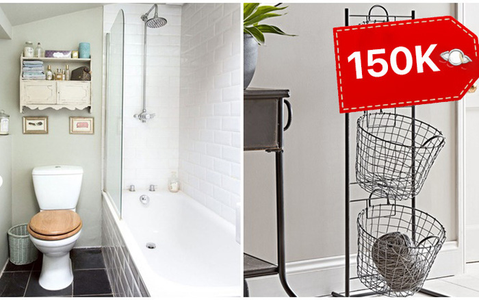 Hô biến phòng tắm gọn gàng trong tích tắc với các món đồ lưu trữ hiện đại chỉ từ 150K