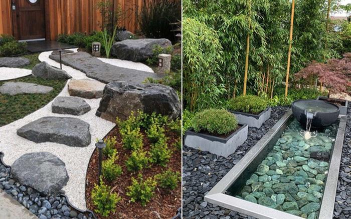 Mách bạn cách trang trí sân trước nhà theo phong cách Nhật