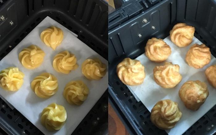 Không có lò nướng các chị em vẫn có thể làm bánh su kem bằng nồi chiên không dầu một cách dễ dàng