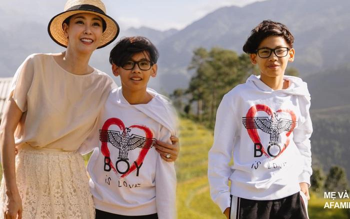 Hoa hậu Hà Kiều Anh tiết lộ chiều cao của con trai, 13 tuổi đã vượt chuẩn nhờ chơi môn thể thao này 6 buổi/tuần