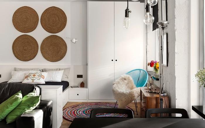 Hai căn hộ nhỏ với diện tích chỉ 43m² nhưng đem lại sự ấn tượng ngay từ khi mới nhìn