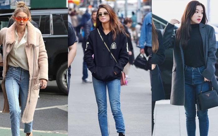 Diện quần skinny jeans, các sao nữ từ Á sang Âu sẽ mix với 4 items này để set đồ được sang xịn hóa vượt bậc