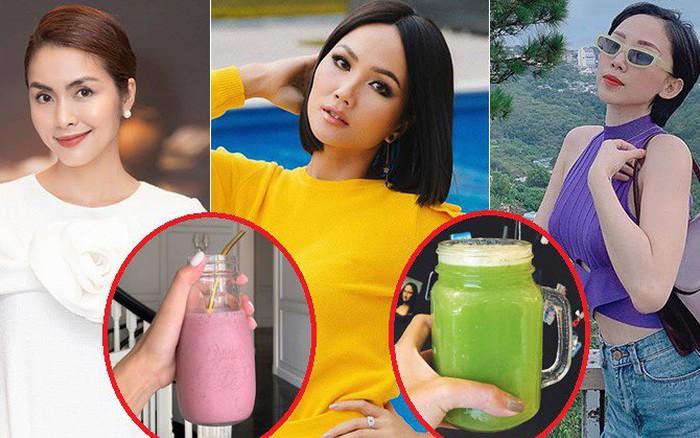 Học Hà Tăng, Tóc Tiên… uống nước detox vừa thanh lọc lại giúp giảm cân, giữ ...