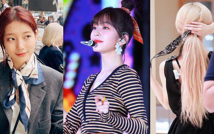 """Đến phục tài """"tái chế"""" của idol Hàn: chỉ một chiếc khăn lụa mà diện được ..."""