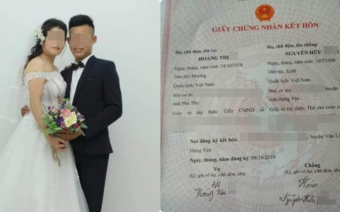 Xôn xao thông tin cô dâu 41 cưới chú rể 20 tuổi, giấy đăng ký kết hôn ...