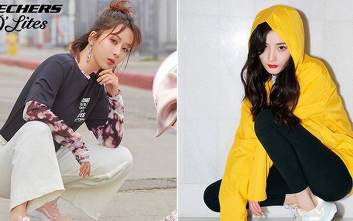 Cùng 1 dáng pose quảng cáo sneaker: Dương Mịch, Angela Baby... khoe đẳng cấp; quay sang ...