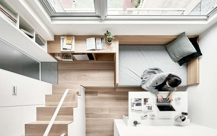 Căn hộ 22m² có cách thiết kế đỉnh cao khiến những người ở nhà rộng cũng ...