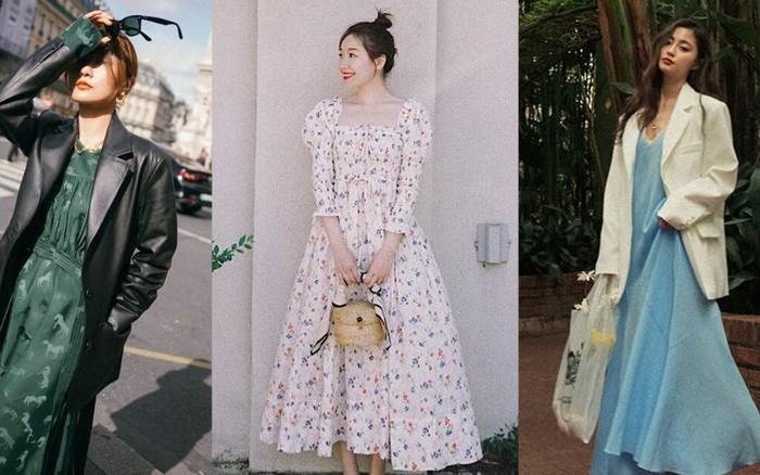 Bỗng thấy không kiểu váy nào vượt qua được váy dáng dài về độ sanh chảnh