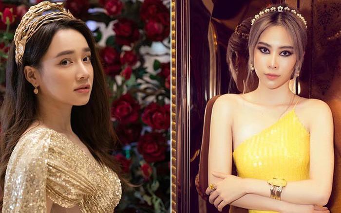 """Nhã Phương - Nam Em chung sự kiện: gười như nữ thần, người lại """"tụt dốc"""" nhan sắc vì makeup"""