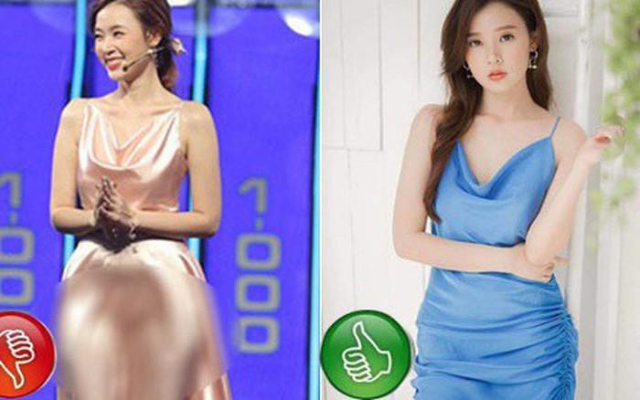 Cùng là váy lụa nhưng chỉ cần Midu khéo chọn dáng váy thì sẽ ...