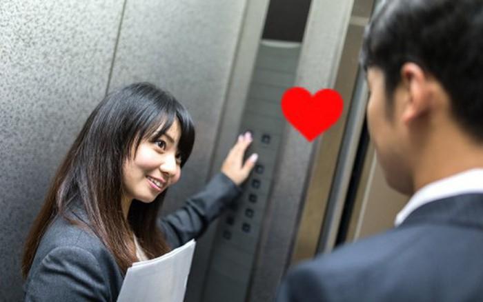 """Gặp """"chân ái"""" trong thang máy công ty, chàng công sở hỏi tán thế ..."""