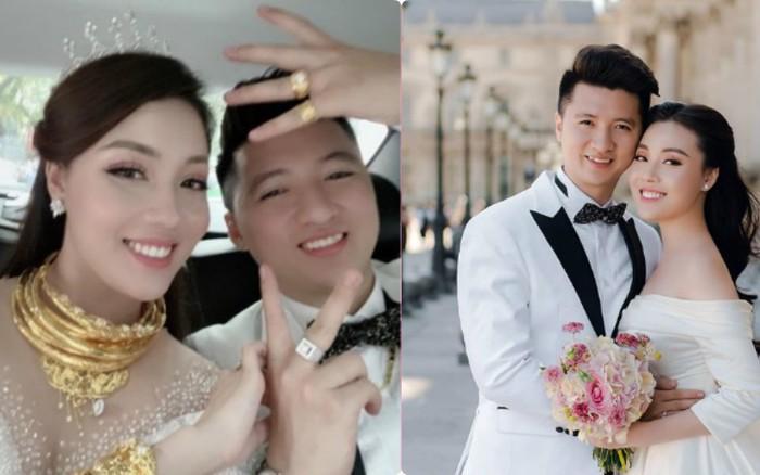 """Đám cưới nhà người ta: Cô dâu đeo trên người """"sương sương"""" hơn chục ..."""