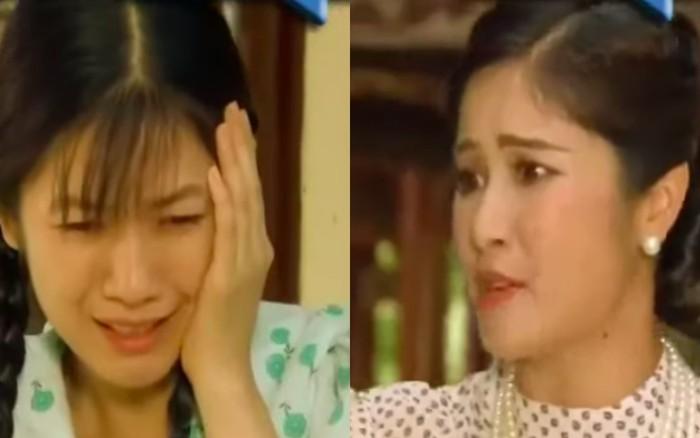 """""""Tiếng sét trong mưa"""": Con gái Thị Bình bị vợ kế Khải Duy tát thẳng mặt, ..."""