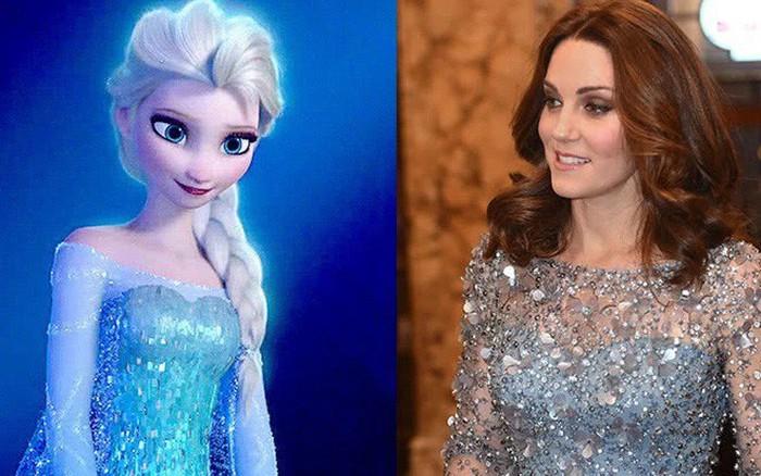 Công nương Kate với 3 bộ cánh như công chúa Disney