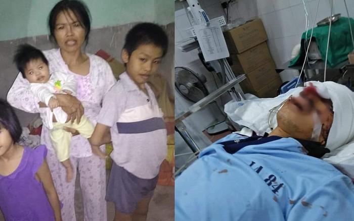 Người đàn ông bị tai nạn để lại vợ dại, con thơ mang bệnh Down không có tiền chưa bệnh