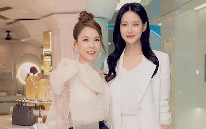"""Diện váy trắng đen cách điệu, Sam rạng rỡ xuất hiện bên Oh Yeon Seo của """"Hoa du ..."""