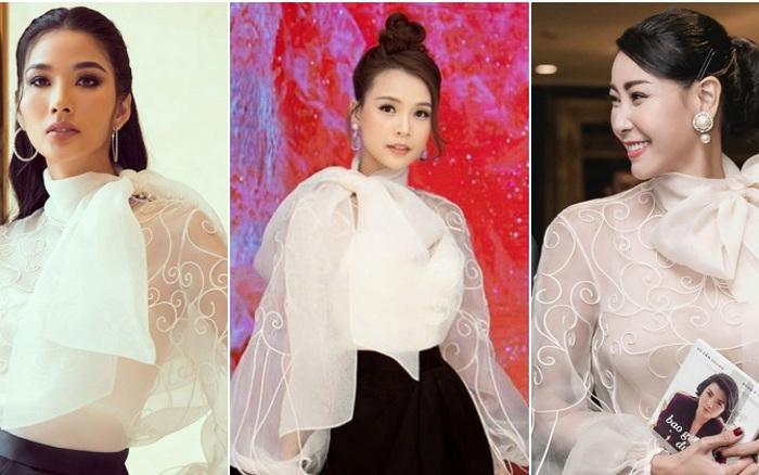 Cùng 1 mẫu áo: Sam ngọt ngào; Hoàng Thùy cá tính đến HH Hà Kiều ...