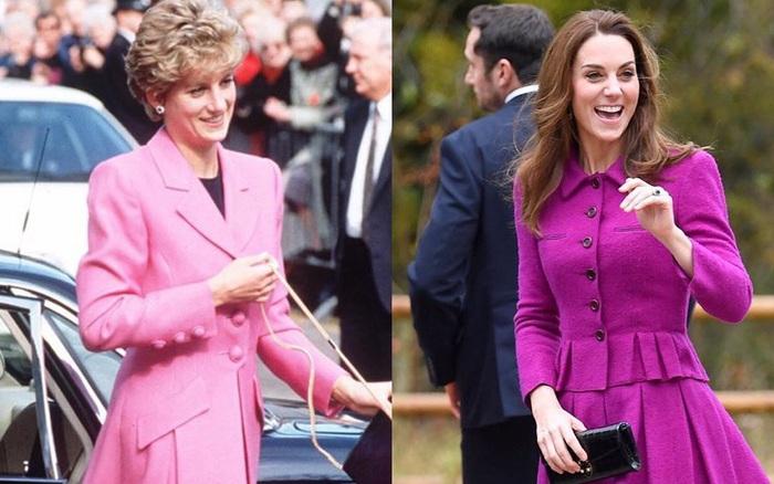 Diện đồ tím chuẩn trend, Công nương Kate lại khiến dân tình nhớ đến hình ảnh của ...