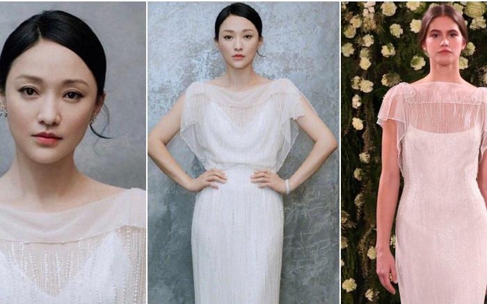 Châu Tấn diện váy cưới gần trăm triệu đi sự kiện