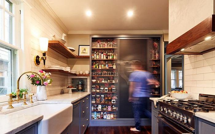 30 ý tưởng cho nhà bếp nhỏ sáng bừng đến vô tận không gian