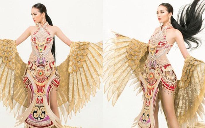 Lộ diện quốc phục của Ngọc Châu tại Miss Supranational: Dài 5 mét, ...