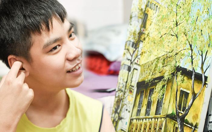 Cậu bé tự kỷ 9 tuổi mê tranh Van Gogh với bức tranh được đấu giá trăm triệu: ...